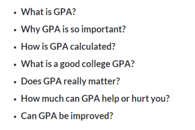 The Ultimate Guide on GPA