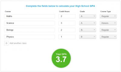 High school gpa calculator ccuart Images